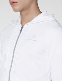 ARMANI EXCHANGE A|X Signature Track Jacket Hoodie Zip-up Man e