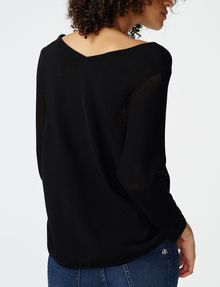 ARMANI EXCHANGE Open-Knit Dolman Sleeve Sweater V-Neck D r