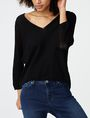 ARMANI EXCHANGE Open-Knit Dolman Sleeve Sweater V-Neck Woman f