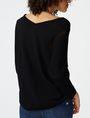 ARMANI EXCHANGE Open-Knit Dolman Sleeve Sweater V-Neck Woman r