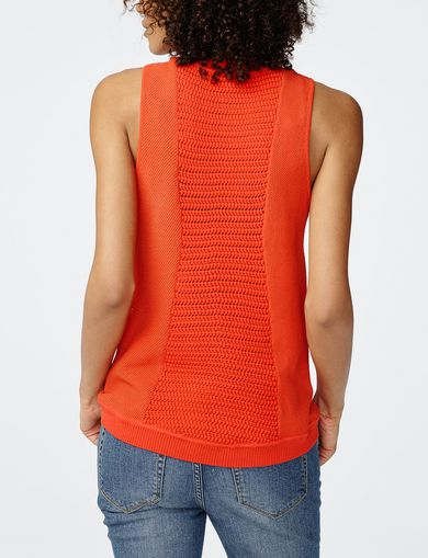 ARMANI EXCHANGE Open-Knit Tank Woman retro