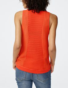 ARMANI EXCHANGE Open-Knit Tank Crew Neck Woman r