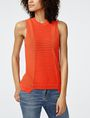 ARMANI EXCHANGE Open-Knit Tank Crew Neck Woman f