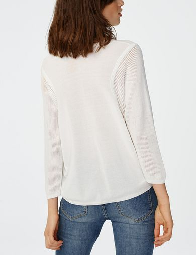 ARMANI EXCHANGE Open-Knit Dolman Sleeve Sweater Woman retro