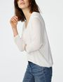 ARMANI EXCHANGE Open-Knit Dolman Sleeve Sweater V-Neck D d