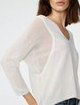 ARMANI EXCHANGE Open-Knit Dolman Sleeve Sweater V-Neck D e