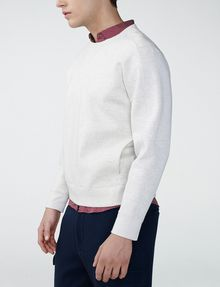 ARMANI EXCHANGE Faux-Suede Sweatshirt Crew Neck Man d