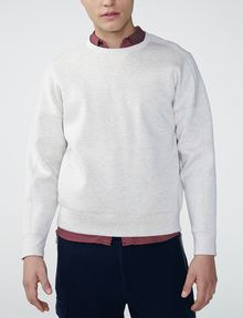 ARMANI EXCHANGE Faux-Suede Sweatshirt Crew Neck Man f