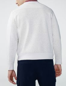 ARMANI EXCHANGE Faux-Suede Sweatshirt Crew Neck Man r