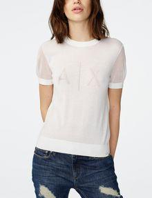 ARMANI EXCHANGE Intarsia Logo Sweater Crew Neck Woman f