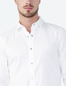 ARMANI EXCHANGE Snap-Front Stretch Slim-Fit Shirt Long sleeve shirt U e