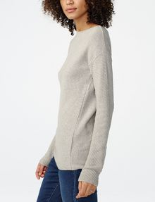 ARMANI EXCHANGE Asymmetrical Rounded Hem Sweater Crew Neck D d