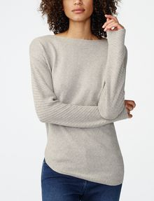 ARMANI EXCHANGE Asymmetrical Rounded Hem Sweater Crew Neck D f