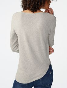 ARMANI EXCHANGE Asymmetrical Rounded Hem Sweater Crew Neck D r