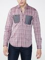 ARMANI EXCHANGE Contrast Pocket Plaid Shirt Long sleeve shirt Man f