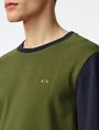 ARMANI EXCHANGE Colorblock Crewneck Sweatshirt Crew Neck U e