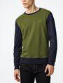 ARMANI EXCHANGE Colorblock Crewneck Sweatshirt Crew Neck Man f