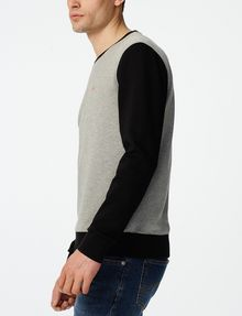 ARMANI EXCHANGE Colorblock Crewneck Sweatshirt Crew Neck U d