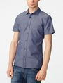 ARMANI EXCHANGE Short-Sleeve Dobby Stripe Shirt Short sleeve shirt Man f