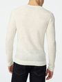 ARMANI EXCHANGE Variegated Linen Henley Crew Neck U r