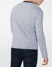 ARMANI EXCHANGE Mini-Stripe Long-Sleeve Crew Long Sleeve tee U r