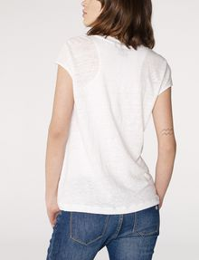 ARMANI EXCHANGE Linen Cap-Sleeve Top Shell D r