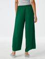 ARMANI EXCHANGE Voluminous Wide-Leg Trouser Culotte Woman r