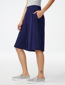 ARMANI EXCHANGE Silk Pull-On Culotte Dress Short Woman d