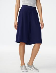 ARMANI EXCHANGE Silk Pull-On Culotte Dress Short Woman f