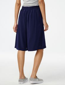 ARMANI EXCHANGE Silk Pull-On Culotte Dress Short Woman r