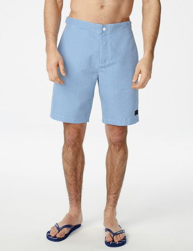 ARMANI EXCHANGE Side-Cinch Swim Trunk Man front