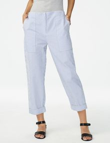 ARMANI EXCHANGE Clean-Front Seersucker Pant 3/4-length pant Woman f