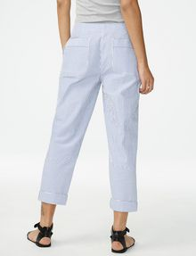 ARMANI EXCHANGE Clean-Front Seersucker Pant 3/4-length pant D r