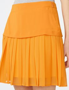 ARMANI EXCHANGE Two-Tier Pleated Miniskirt Skirt D e