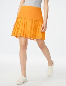 ARMANI EXCHANGE Two-Tier Pleated Miniskirt Skirt [*** pickupInStoreShipping_info ***] f