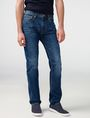 ARMANI EXCHANGE Medium-Wash Relaxed Straight-Fit Jean STRAIGHT FIT JEANS Man f