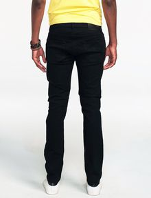 ARMANI EXCHANGE Yarn-Dye Black Slim-Fit Jean Skinny Fit Denim U r