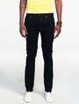 ARMANI EXCHANGE Yarn-Dye Black Slim-Fit Jean Skinny jeans U f