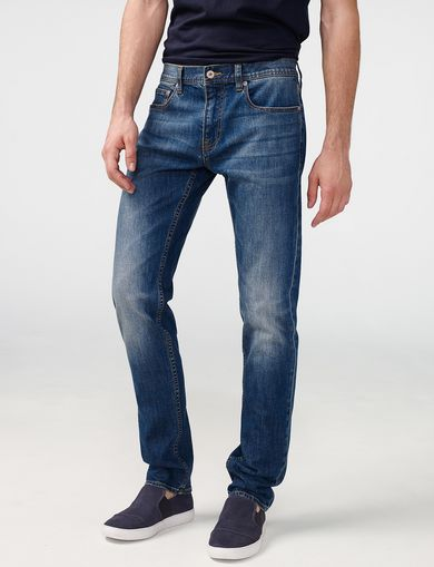 ARMANI EXCHANGE Medium-Wash Slim-Fit Jean Man front