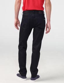ARMANI EXCHANGE Yarn-Dye Black Straight-Leg Jean Straight Fit Denim U r