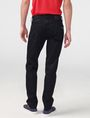 ARMANI EXCHANGE Yarn-Dye Black Straight-Leg Jean STRAIGHT FIT JEANS Man r