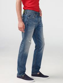 ARMANI EXCHANGE Distressed Straight-Fit Jean Straight Fit Denim U d