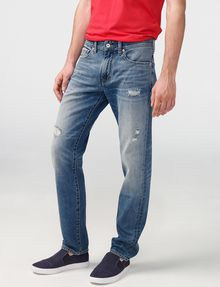 ARMANI EXCHANGE Distressed Straight-Fit Jean STRAIGHT FIT JEANS Man f
