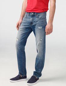 ARMANI EXCHANGE Distressed Straight-Fit Jean STRAIGHT JEANS U f