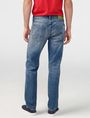 ARMANI EXCHANGE Distressed Straight-Fit Jean Straight Fit Denim U r