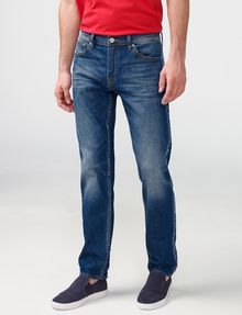 ARMANI EXCHANGE Straight-Leg Whiskered Jean Straight Fit Denim U f