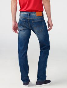 ARMANI EXCHANGE Straight-Leg Whiskered Jean STRAIGHT JEANS U r