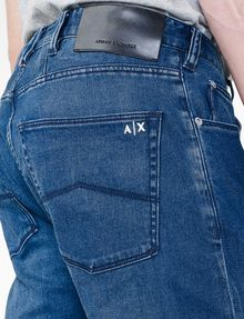 ARMANI EXCHANGE Relaxed Straight-Leg Jean Relaxed Fit Denim Man e