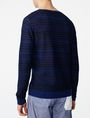 ARMANI EXCHANGE Variegated Linen Henley Crew Neck Man r