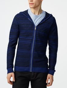 ARMANI EXCHANGE Variegated Linen Hoodie Zip-up U f
